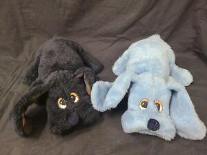 "Lot of 2 Vintage 80s 19"" Blue & Black Pound Puppies"