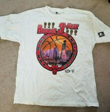 Chicago Bulls 1998 Starter Championship shirt - Repeat 3-peat - Size Large