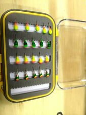 New listing Tungsten Ice Fishing Jig Assortment With Waterproof Box 20 Jigs