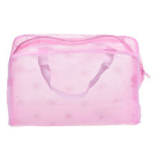 Clear Transparent Plastic  PVC Travel Makeup Bag Cosmetic Toiletry Zip Bag Pouch