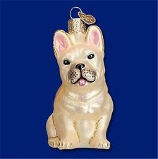 FRENCH BULLDOG OLD WORLD CHRISTMAS GLASS DOG BREED PET CANINE ORNAMENT NWT 12436
