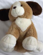 Süßer sitzender Welpe mit liebevollem Blick Hund NEU 33cm Beige/Creme/Braun