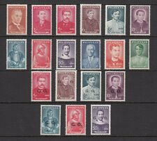 (RP62A) PHILIPPINES - 1962-69 COMPLETE REGULAR STAMP SETS - NATIONAL HEROS. MUH