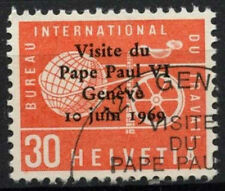 Suiza 1969 Sg #lb 100 Oficina de empleo, el Papa Pablo Vi Visita Cto utilizado #d 6083