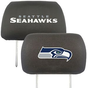 Fanmats NFL Seattle Seahawks 2-Piece Embroidered Headrest Covers Del. 2-4 Days