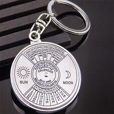 New Perpetual Calendar Keyring Keychain Unique Metal Key Chain Ring 50 Years
