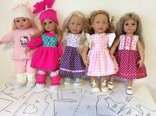 ✿ Großes SET Schnittmuster Puppenkleidung für Stehpuppen 46 - 50 cm Hannah Julia