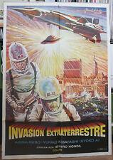 DESTROY ALL MONSTERS orig Spanish film poster Kaijû sôshingeki Japanese Sci-fi