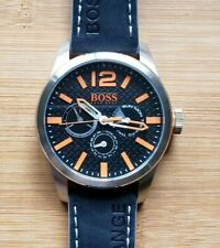 Hugo Boss Orange 1513228 Watch With 47mm Black Chronograph Face & Leather Band