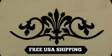 Cut, Steel, Fleur de Lis, Topper, Wall Plaque, Old World, Tuscan, French Country