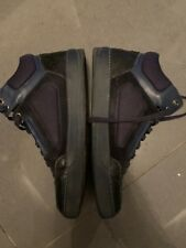 Lanvin Mens Blue Leather Trainers Hi Tops Size 8 Uk Loved & Used