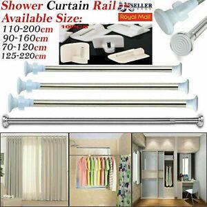 Heavy Duty Extendable Telescopic Shower Curtain Rail Pole Rod Bath Door Window