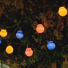 Auraglow Set of 10 Solar String Festoon Lanterns LED Fairy Lights Retro Garden L