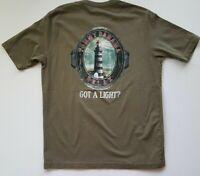 TOMMY BAHAMA Men's T-shirt - GOT A LIGHT - Lighthouse Sailing Coast Harbor Sea S