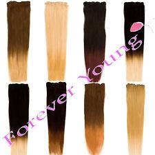 Clip en 100% cabello humano Real Remy Extensiones Dip Dye Ombre Set Todos Los Colores
