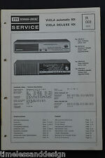 ITT SCHAUB - LORENZ VIOLA automatic 101 VIOLA DeLUXE 101 orig. Schaltplan 1970