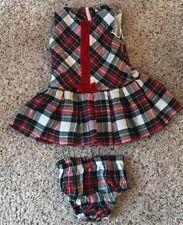 Hartstrings 6-9 Month Plaid Sleeveless Dress Bloomers