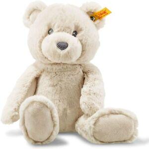 Steiff Soft Cuddly Friends Bearzy Teddy Bear, Beige 28cm Free Steiff Box