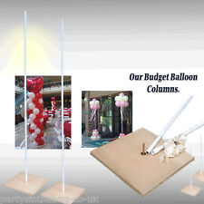 WEDDING PARTY SHOP FRONT DISPLAY BUDGET 1 x BALLOON COLUMN , 1m to 2m in height