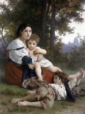 WILLIAM ADOLPHE BOUGUEREAU REST OLD MASTER PAINTING PRINT POSTER 3136OMLV