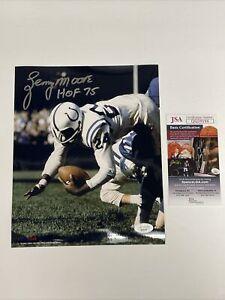 Lenny Moore Signed 8 x 10 Photo JSA COA Baltimore Colts ProLook