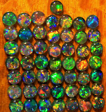 OPAL TRIPLETS FOR STUDS OR EARRINGS 50 of 5 mm A+ GRADE CABOCHONS 20 carats