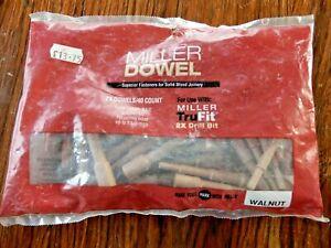 "Miller Dowel 40 2X Dowels Walnut 3 1/2"" X 1/2""  Made in USA New Old Stock"