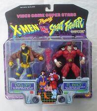 X-Men vs Street Fighter CYCLOPS vs M. BISON Toy Biz Video Game Super Stars 1997