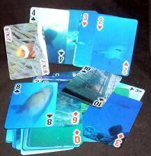 Shark Moving Motion Effect Playing Cards Poker Size Jokers Clown Fish Snorkeler