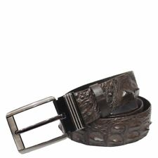 Unjointed Brown Genuine Alligator Crocodile Leather Skin Men Belt W:3,8 cm
