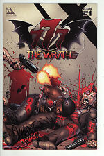 777 The Wrath (1998) #1 Wraparound Variant Signed by Tim Vigil no COA Avatar NM-