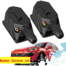 2Pcs Universal Car Blade Arm Washer Wiper Water Spray Jet Nozzle Black 9mm  /
