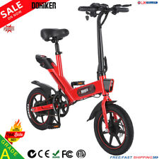 "14"" Ebike Folding Electric Bike 36V 350W Motor Electric Bicycle Cycling E-Bike A"