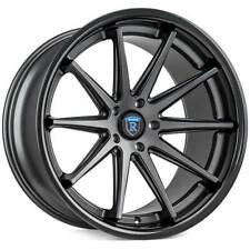 4ea 20x10/20x11 Staggered Rohana Wheels RC10 Matte Graphite Rims(S11)