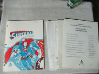 SUPERMAN SET ATARI PINBALL      arcade game manual