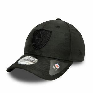 NEW ERA 39THIRTY LAS VEGAS RAIDERS BASEBALL CAP.NFL STRETCH BLACK CAMO HAT W21