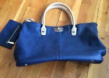 Charming Charlie Women's Large Blue Purse Handbag Shoulder Bag Clutch - EUC