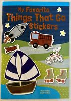 THINGS THAT GO Sticker Activity Book for Kids, Rockets, Boats Learning Fun!! NEW