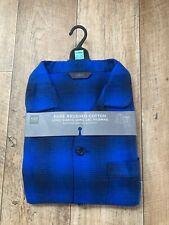 Brand New  M&S Collection Men's Blue Mix  Long Sleeve & Long Leg Pyjamas Size XL