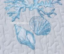 2-pc ☆ TROPICAL SAND DOLLARS  ☆ Twin Quilt SIGRID OLSEN Coral Seashell Seahorses
