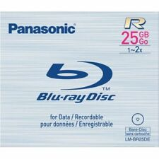 5PK Panasonic LM-BR25DE 25 GB 2x Write-Once (R) BD-R Blu-ray Disc 5pk Dual Layer