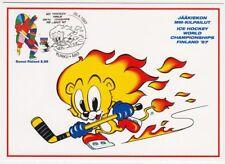 Ice hockey World Championships Finland Mint Maxi Card 1997 FDC