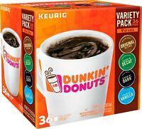 Dunkin' Donuts Variety Pack Keurig K-Cup Pods 36 Count (New in Box)
