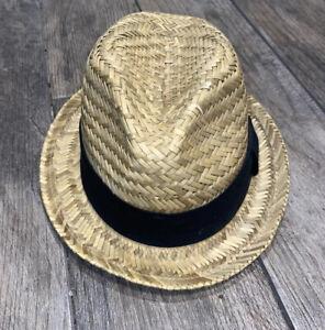 Gap Women's Fedora Straw Hat Small/medium Ribbon