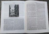 1843 L''ALBUM DI ROMA': PANE AL LOUVRE 1709; VEDUTA DI VELLETRI; BRONZO ETRUSCO