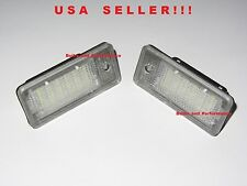LED License Plate Lights For Audi A3 S3 A4 S4 RS4 (B6, B7) A6 A8 Q7 RS6 Audi NEW