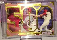 Mark McGwire 500th Home Run Upper Deck Gold Lined Acrylic Trading Card~Free Ship