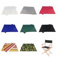 Dossier en toile et tissu de siège pour chaise / tabouret pliable en croix