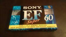 SONY EF60 BLANK AUDIO CASSETTE TAPE