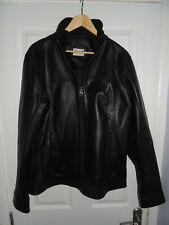 Mens OnFire Black Leather Jacket Size UK Large - Real and Genuine OnFire Product